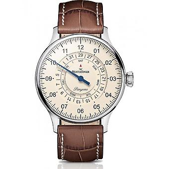 MeisterSinger Watches Men's Watch One-Hand Clock with Additional Function Pangaea Day Date PDD903_SG02W