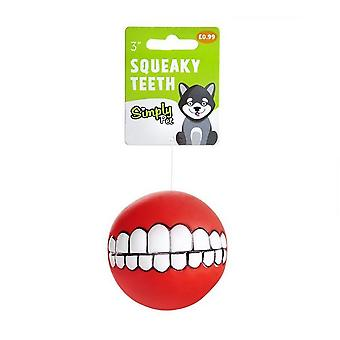 Sharples Squeaky Teeth Dog Toy Ball