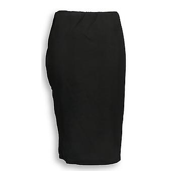 Dennis Basso Skirt Ponte Knit Pencil Style Pull On Black A288738