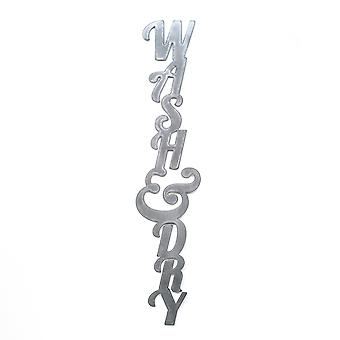 Wash and dry - metal cut sign 30x6in