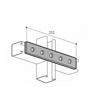 M12 Five Hole Fixing Plate For Channels T304 Stainless Steel (as Unistrut / Oglaend)