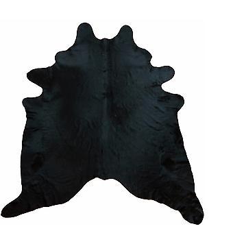 6' Black Dyed Brindled Cowhide Rug