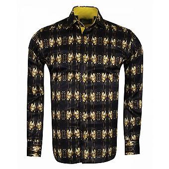 Oscar Banks Baroque Print Mens Shirt