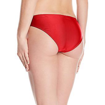 All American Women's Brief Bikini Bottom,, Fireckracker Red, Size Large