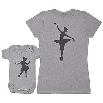 Baby & mum ballet dansers-baby t-shirt & moeder ' s t-shirt