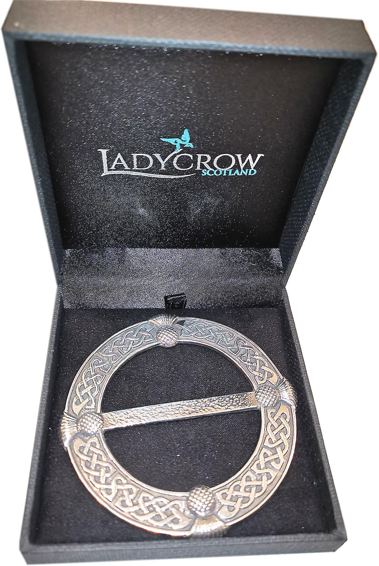 Pewter Thistle Large Scarf Ring by Ladycrow