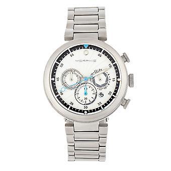 Μορφικό M87 σειρά χρονογράφος ρολόι βραχιόλι w/ημερομηνία-ασημί/λευκό