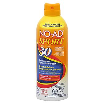 No-ad sport continuous spray sunscreen, spf 30, 10 oz