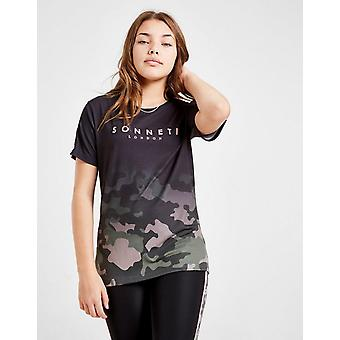 New Sonneti Girls' Camo Gradient Boyfriend T-Shirt Black