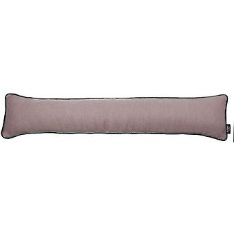 Mcalister textiles herringbone boutique purple + grey draught excluder