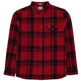 Wrangler Mens Single Pocket Long Sleeve Casual Shirt Top