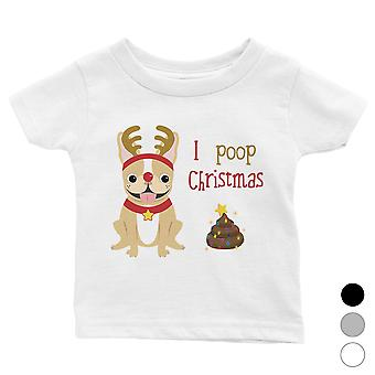Frenchie kerst kak schattige baby shirt X-Mas aanwezig