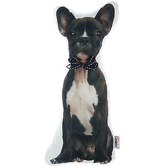 Almohada llena de forma de bulldog francés, almohada en forma de animal