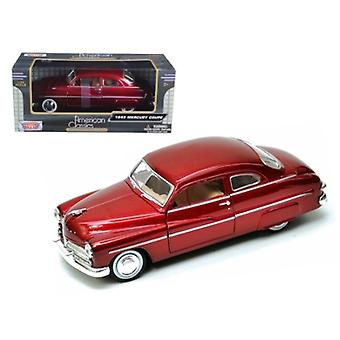 1949 Mercury Red 1/24 Diecast Car Modelo por Motormax