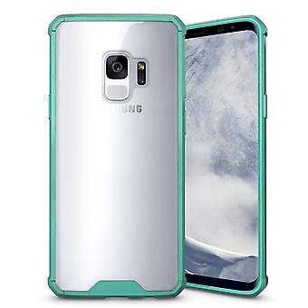 Per Samsung Galaxy S9 Custodia posteriore,Shockproof Transparent Armour Cover,Green