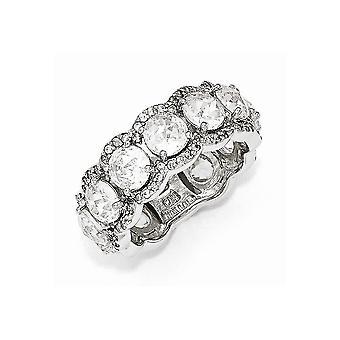 Cheryl M 925 Sterling Silver CZ Cubic Zirconia Simulerade Diamond Ring Smycken Gåvor för kvinnor - Ring Storlek: 7 till 8