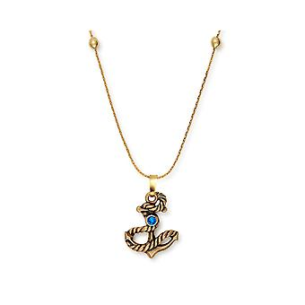 Alex and Ani Anchor Rafaelian Gold & Swarovski Crystal Necklace