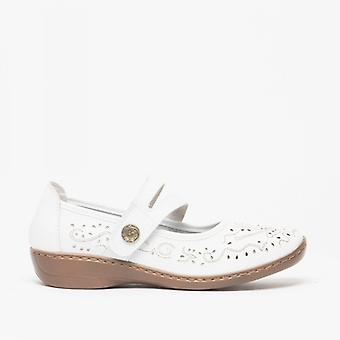 Boulevard Charlotte Ladies Leather Mary Jane Shoes White