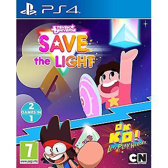 Steven Universe lagre lys og OK K.O.! Lar spille Heroes PS4 spill