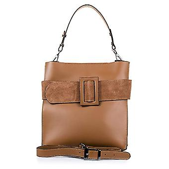 FIRENZE ARTEGIANI. Women's bag in real leather. Leather tote bag genuino_piel RUGA luxury and suede. Exclusive front detail. MADE IN ITALY. REAL ITALIAN SKIN. 27_5x30x16 cm. Color: leather