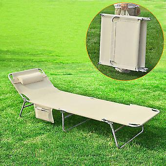 SoBuy réglable inclinable jardin Bed Chair, Beige, OGS35-MI