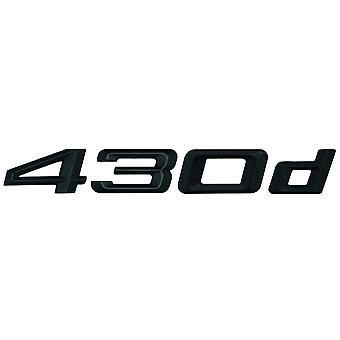 Matt Black BMW 430d Car Model Rear Boot Number Letter Sticker Decal Badge Emblem For 4 Series F32 F33 F36 G22 G23 G26