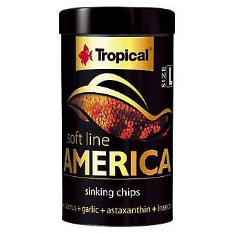 Tropical 67433 Soft Line America L 100 ml (Fish , Food , Warm Water)