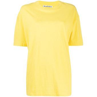 Acne Studios Al0119aqm Women's Yellow Cotton T-shirt
