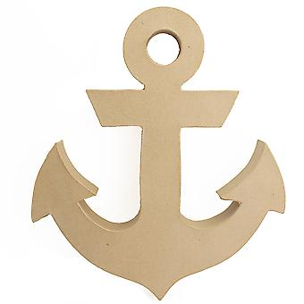34.5cm Paper Mache Freestanding Anchor Shape to Decorate