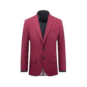 Dobell Mens Red Suit Jacket Regular Fit Shawl Lapel
