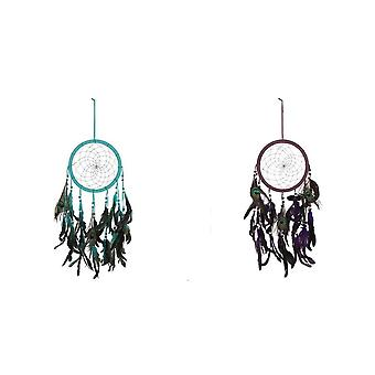 Iets anders Peacock Feather Dream Catcher