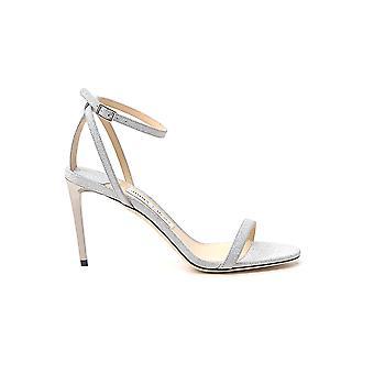 Jimmy Choo Minny85igtsilver Kvinder's Sølv læder sandaler