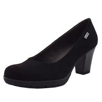 JAN 22440 Taurus Wide Fit Smart-casual Janatex Court Shoes In Black
