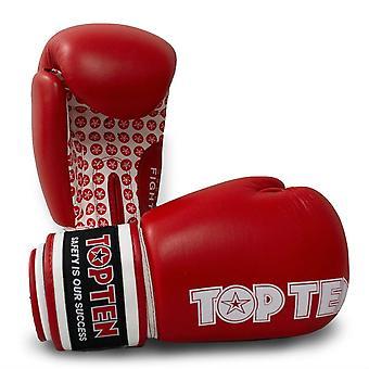 Top Ten lutte gants de boxe rouge