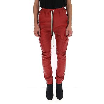 Rick Owens Ro19f5361ls133 Women's Red Leather Pants