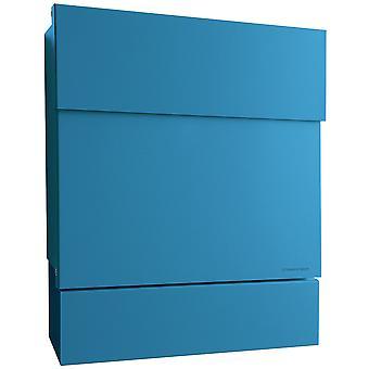 Azul de caixa de correio Letterman 5 raio com papel de jornal 561n