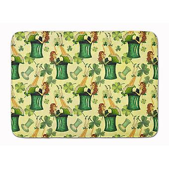 Watercolor St Patrick's Day Party Machine Washable Memory Foam Mat