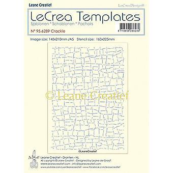LeCrea - Stencil Crackle design size 95.6289 148x210mm (01-20)
