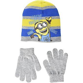 Pojkar Minions vinter 2 Piece set mössa och handskar
