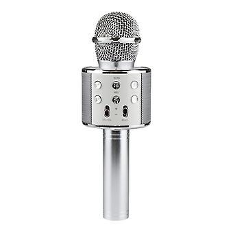 KTV - Bezprzewodowy mikrofon karaoke - Srebrny