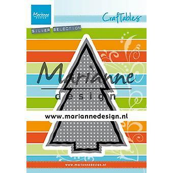 Marianne Design Craftables Cutting Dies - Cross Stitch Christmas Tree CR1481