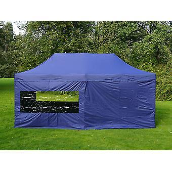 Tente Pliante FleXtents PRO 3x6m Bleu foncé, avec 6 cotés