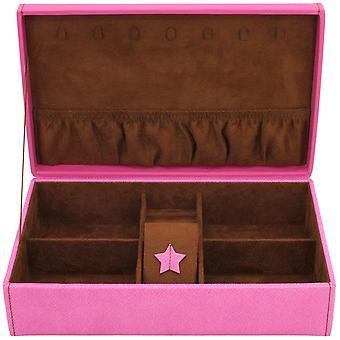 Friedrich leather jewelry case jewelry box BACCARAT pink watch specialist