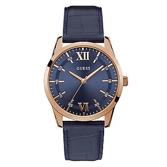 Guess W1307G2 Gent's Theo Blue Strap Wristwatch
