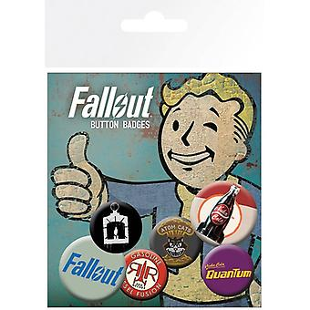 Fallout 4 Mix 2 Pin Button Badges Set