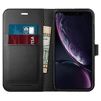 Spigen Wallet Hoesje iPhone XR - Zwart