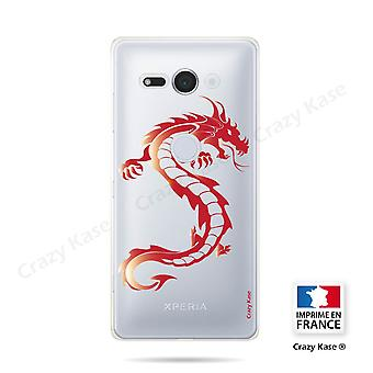Hull For Sony Xperia Xz2 Compact Soft Red Dragon
