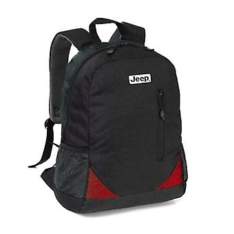 Jeep Urban Laptop Backpack, Black/Red