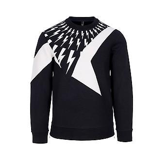 Neil Barrett Lightning Bolt Sweater