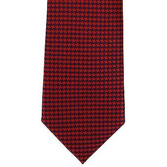 Michelsons Londyn pogrubienie Dogtooth Jedwabny krawat - czerwony